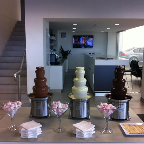 our fountains chocolush uses sephra brand chocolate
